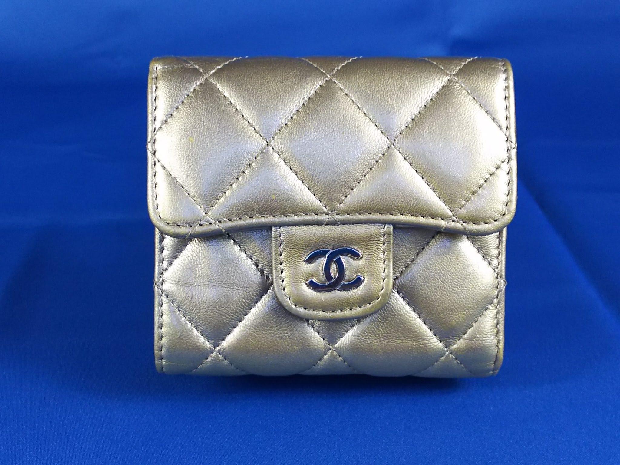 93b8ef88c00f シャネル財布 メタリックカラーの色補修 バッグなど革製品修理・塗り ...